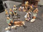 Hummel Nativity Set lightly used in boxes 15 piece set large size w stable