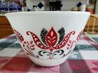 FIRE KING OVEN WARE BATTER MIXING BOWL MODERN TULIP 8 1/2 INCH LARGE 3qt. NICE!!