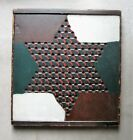 PRIMITIVE AMERICAN FOLK ART PAINTED GAMEBOARD GAME BOARD CHINESE CHECKERS