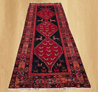 Hand Knotted Vintage Persian Bakhtiar Pictorial Wool Area Runner 9.5 x 3.5 FT