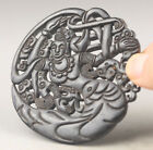 Old Chinese natural jade hand-carved moon buddha change pendant NO.G186