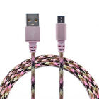 Braided Aluminum Micro USB DataSync Charger Cable For Android Phone PK YT8