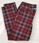 OLD NAVY Red Plaid Pixie Pants Mid-Rise Size 6 Regular Fall 2015