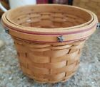 Longaberger 2007 Branch Award Basket w/ Star Tacks - Pen / Pencil - Red Trim