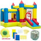 Inflatable Water Slide Pool Bounce House Backyard Jumper Castle With 480W Blower