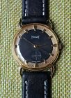 CLASSIC PIAGET TEXTURED BLACK DIAL 18Kts GOLD PLATED CASE 1940 Free shipping!!!!