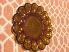 Vintage Indiana Glass Deviled Egg Plate Platter Amber Iridescent Carnival Glass