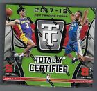 2017 18 Panini Totally Certified Basketball Factory Sealed Hobby Box