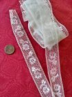 French Antique Lace Valencienne Val  fine Trim  3 yards +12