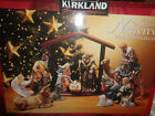 Kirkland 12 Pc Porcelain 75177 Nativity Signature Missing Wooden Creche