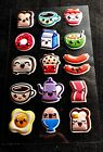 Embossed Sticker Sheet Breakfast Food With Faces Super Cute Puffy