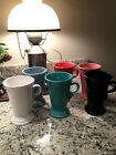FIESTA WARE Coffee Cappuccino Latte Footed Mug Lot Of 6