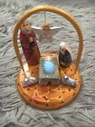 LOVELY HAND CARVED  HAND PAINTED RUSSIAN NATIVITY SET BABY JESUS  LAMB Nat 22