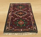 Authentic Hand Knotted Vintage Indo Persian Wool Area Rug 3 x 2 FT (6054)