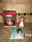 1997 Hallmark HOLIDAY BARBIE Christmas Ornament #5 IN SERIES Red Gown #0752
