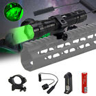 Green Red White 6000Lm LED Flashlight Hunting Torch Lamp 18650 Switch Mount Gun