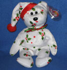 TY 1998 HOLIDAY TEDDY the BEAR BEANIE BABY - MINT with NEAR PERFECT TAG