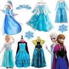 Toddler Kids Girls Anna Elsa Dress Cosplay Costume Princess Party Fancy Dress Up