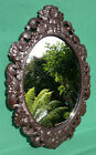 Antique Faux Carved Wood Plaster Mirror c1910 Black Forest Style 26.25