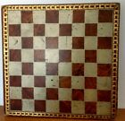 FINE ANTIQUE MID 1800s DIMINUTIVE FOLK ART PAINTED GENTLEMAN FARMERS' GAME BOARD