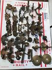 VINTAGE BRASS DRESSER DRAWER PULLS HANDLES LOT AS IS FREE SHIPPING USA