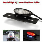 Motorcycle Led Brake Tail Light Turn Signal License Plate Mount For Cafe Racer