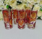 Vintage Barware Glassware Mid Century Modern Set of 6