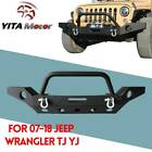 Rock Crawler Rear Bumper W D ring  2 Hitch Receiver for Jeep Wrangler 07 18 JK