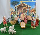 VIntage Boxed SET Paper Mache Christmas NATIVITY 4 Religious FIGURINES ITALY