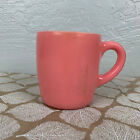 Vintage Hazel Atlas Pink Mug Milk Glass Coffee Tea