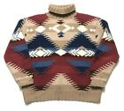 Vtg RALPH LAUREN COUNTRY Knit Wool Sweater M POLO southwest RRL Aztec NATIVE