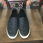 Tory Burch Navy Quilted Studded Leather Slip On Sneakers Shoes 8