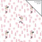Disney Minnie Mouse pink Flannel by the yard x 43in Camelot Fabrics