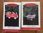 LOT OF 2 Collectors Keepsake Kiddie Car Classics Hallmark Christmas Ornaments