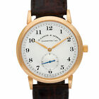 A. Lange & Sohne Saxonia 206.032 18k rose gold Silver dial 36mm Manual