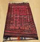 Authentic Hand Knotted Afghan Balouch Wool Area Rug 6 x 3 FT (5303)