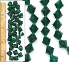 Genuine 10mm Vintage Emerald Swarovski 5301 Bicone Crystal Glass Beads 36pc