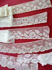 6 WIDE French Antique Lace Alencon Trim 7+ yards lot