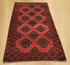 Authentic Hand Knotted Afghan Balouch Wool Area Rug 7 x 4 FT (5208)