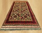 Authentic Hand Knotted Afghan Aksi Balouch Wool Area Rug 6 x 3 FT (7480)