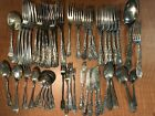 50 Pc Mixed Lot Antique to Vintage FLATWARE Mix - ALL WITH MONO  Craft