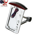 US Silver License Plate Holder Brake Light for Harley Sportster XL1200 XL883 XLH
