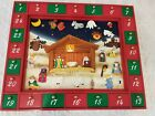 Kurt Adler J4075 TALKING Wooden Nativity Advent Calendar w 24 Magnetic PCS RARE