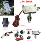 Silver Cell Phone Holder USB Charger for Yamaha V-Star 650 950 1100 1300 Classic