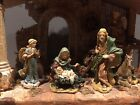 Beautiful Vintage Christmas Nativity Set 12 Piece Ceramic