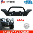 Front Bumper Rock Crawlger Textured +D ring Fit for 2007 2016 Jeep Wrangler JK