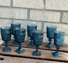 Vintage Indiana Glass Colony Blue Park Lane 7 Goblet Vintage Small