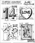 Tim Holtz Cling Rubber Stamps VALENTINE BLUEPRINTS cms143 Stampers Anonymous