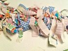6 Foot * EASTER SPRING RAG GARLAND * Pastel Colors - Handmade