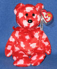 TY CUPID'S BOW the BEAR BEANIE BABY - MINT with MINT TAGS